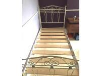 Faux vintage single bed