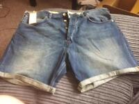 Brand New French Connection Men's denim shorts