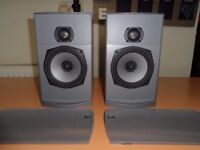 Pair of Nad 820/PSB Alpha B1 Stereo/Bookshelf Speaker - Very Good Condition & Awesome Sound