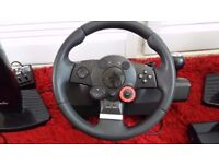 Logitech Driving Force GT Steering Wheel & pedals for PS3 and PC