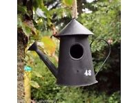 Metal Vintage Bird House Ornament Nesting Box Wild Garden Birds Antique Rustic £10