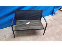 Garden Furniture - Metal & Textilene Bench