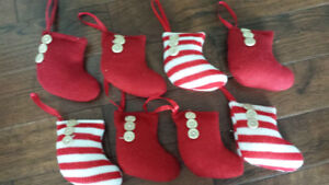 8 Knitted Stocking Ornaments