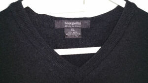 Italian Extra Fine Morino Wool Sweater Mens Designer Italy
