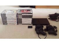 Sony PlayStation PS2 Slimline Console Bundle. 23 games, 2 controllers & memory card. Selling Cheap!