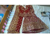 £300 - Stunning - Asian Bridal Lengha - Never worn - Collection only