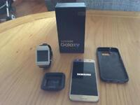 Samsung galaxy s7 unlocked with Samsung smart watch 2