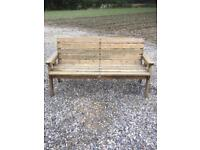 Large garden furniture bench. Free delivery