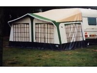 Trio Full Awning Acrylic Roof