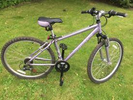 Girls'/ ladies Apollo Comfort bike in lilac 16inch frame