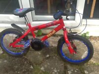 Red Spider-Man themed child's bike for sale