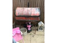 Oil drum barbecue and stand