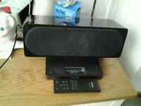 Sony ipod docking station + remote control