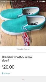Brand new in box vans size 4 uk
