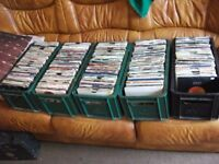 RECORD COLLECTION ALL 45rpms . 900++ various discs ,50s-60s-70s-80s.vg and better.