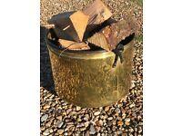 Antique Brass Cooking Pot