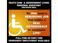 CARE ASSISTANT / INDEPENDENT LIVING ASSISTANT - GRAVESEND AREA - FROM £9.00 TO £18.00 PER HOUR