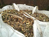 wood chip for plant beds and pathway