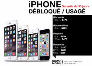 iPhone **6 Plus / 6 / 6s / 5s*16G / 32G / 64G / 128G**DÉBLOQUÉ**