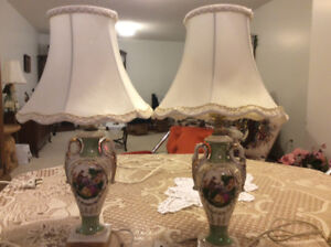 Two old bedroom lamps