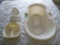 Baby bath, potty and washing bowl