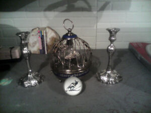 Vintage musical wine decanter and glasses