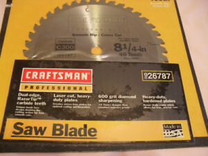 "Craftsman New 40 tooth 8 1/4""  Saw Blade"