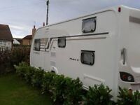 Swift Sprite Major 6 Caravan 6 berth with bunkbeds and mover 2014