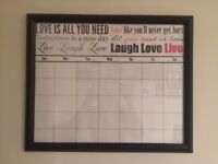 Wall calendar white board