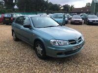 2002 Nissan Almera 1.5 Twist 5 Doors 8 Months MOT Part Service History Cheap Car