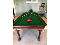 REDUCED! Must Go!! Snooker Table & Maghony Dining Table