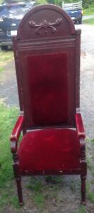 Antique lodge chairs & pulpit