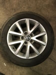 Tires and rims off of a 2010 VW Jetta