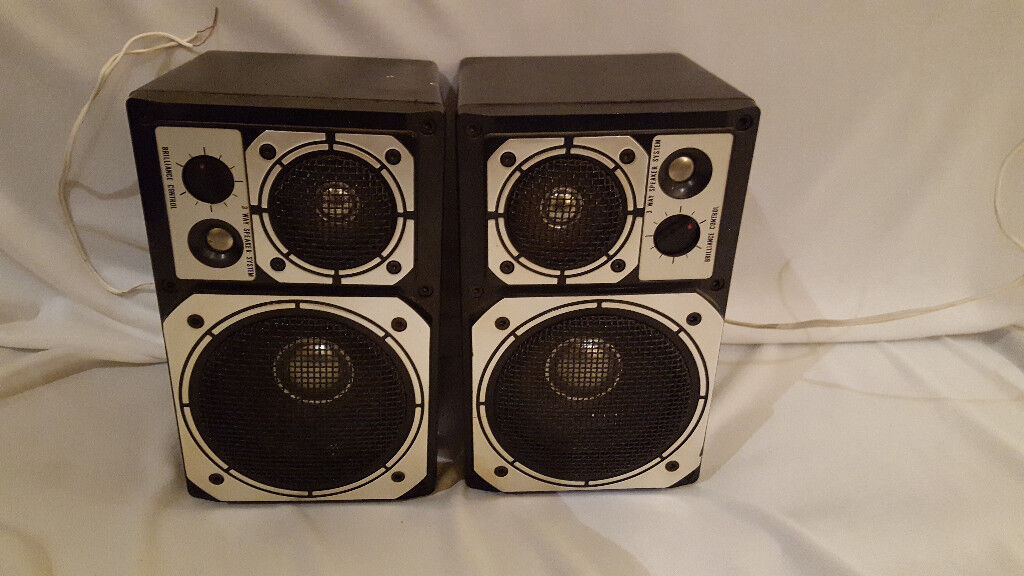 Pair Of Altai 50w Small Hi Fi Stereo Bookshelf Speakers Retro