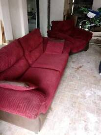 For Sale, 3 seater couch and matching armchair *Price Negotiable, Need Gone!*