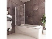 COOKE & LEWIS AMAZON STRAIGHT 4 PANEL FOLDING BATH SCREEN RPP 203£ BRAND NEW
