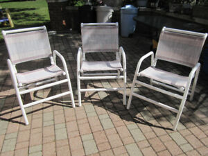 SET of 3 Brand New, Matching Patio Chairs - straight from store