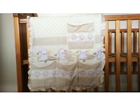 Cot bed organiser