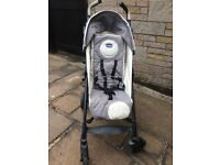 Chicco lite way buggy in grey/white
