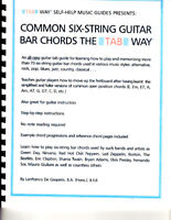 Common Six-String Guitar Bar Chords: the Tab Way for Guitarists