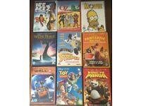 x9 children's DVD films