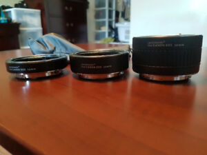 Canon (Pro)master Extenders 12mm, 20mm and 36mm