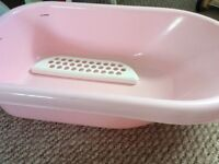Baby bath, box and mat all new