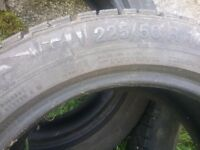 GISLAVED SOFT FROST 225/50 R 17 WINTER TYRES 3 NO