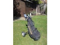 Mens Circuit Plus Oversize R/H Golf Clubs, Bag & Trolley