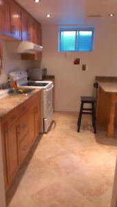 VERY BRIGHT BASEMENT APT VERY CLOSE to SQ1 FROM SEP 1 TO DEC 31