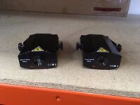 2 x small lasers, used but good working order