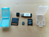 16GB Micro SDHC Card And Adapters