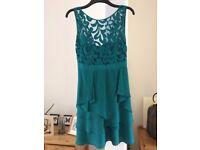 Coast, teal, lace, size 10/12 formal dress