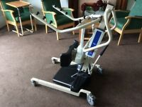 Invacare reliant 350 stand aid hoist, electric stand assist, patient standing hoist